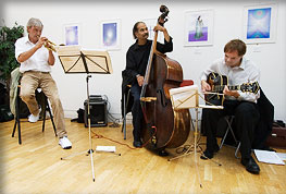 trio with Dick Pearce and Val Manix